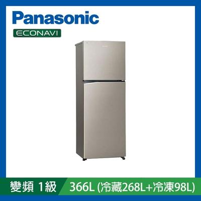 [館長推薦]Panasonic國際牌 366公升 雙門 變頻冰箱 星耀金 NR-B370TV-S1