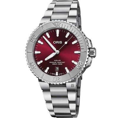 ORIS 豪利時 Aquis Relief 日期潛水機械錶-41.5mm 0173377664158-0782205PEB