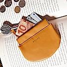 KINAZ 真皮彈簧萬用鑰匙零錢包-沉穩棕力量-小物魔法系列