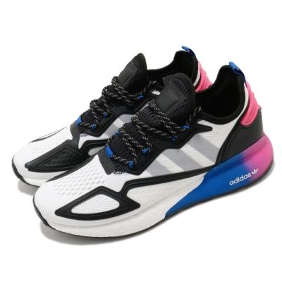 adidas 休閒鞋 ZX 2K Boost 襪套式 男鞋 愛迪達 三葉草 緩震 流行 穿搭 白 黑 FX8835