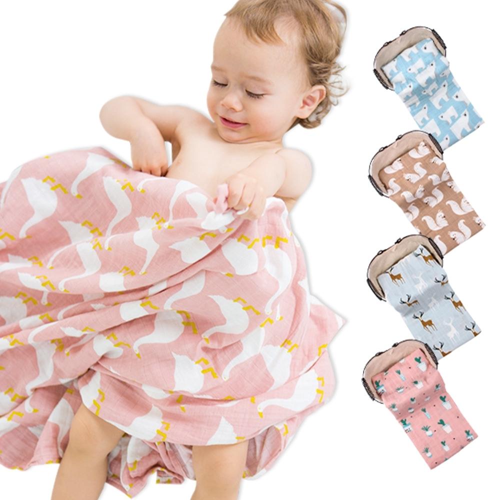 荷蘭Muslintree雙層動物印花嬰兒紗布包巾蓋被浴巾
