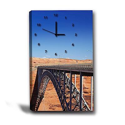 美學365-單聯式直幅 掛鐘無框畫-陸橋-40x60cm