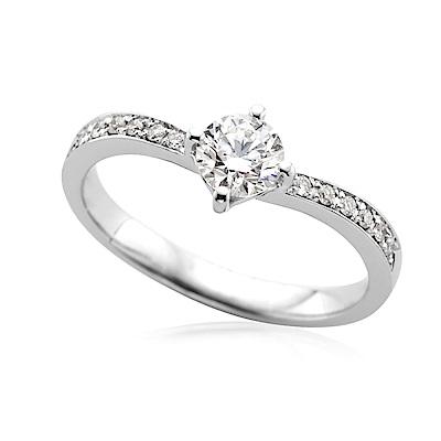 DY Diamond 大亞鑽石 18K金 0.50克拉  F/VS2  求婚鑽戒
