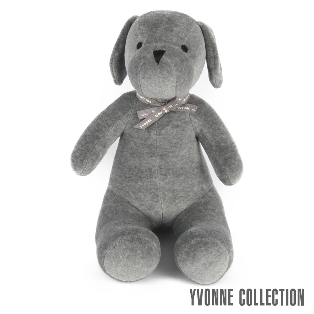 Yvonne Collection 乖乖坐姿狗抱枕-經典灰