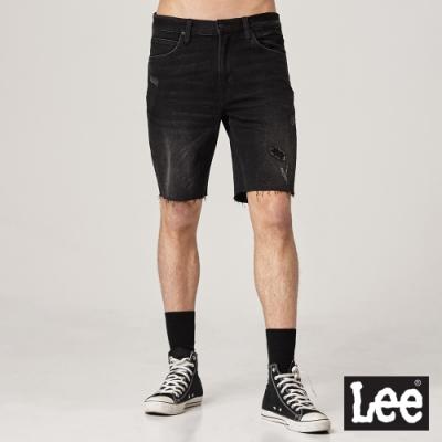 Lee 牛仔短褲 901 男 黑 破壞流蘇設計 彈性