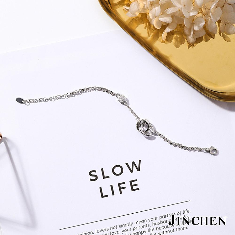 JINCHEN 韓版合金雙圈手鍊 product image 1