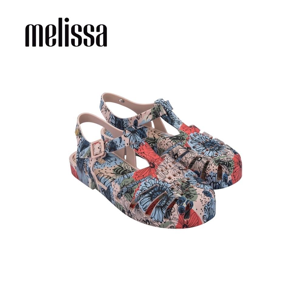 Melissa POSSESSION滿版印花漁夫鞋-藍紅