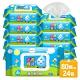 水滴貝貝 珍珠柔點純水柔濕巾80抽x24包(附蓋) product thumbnail 1