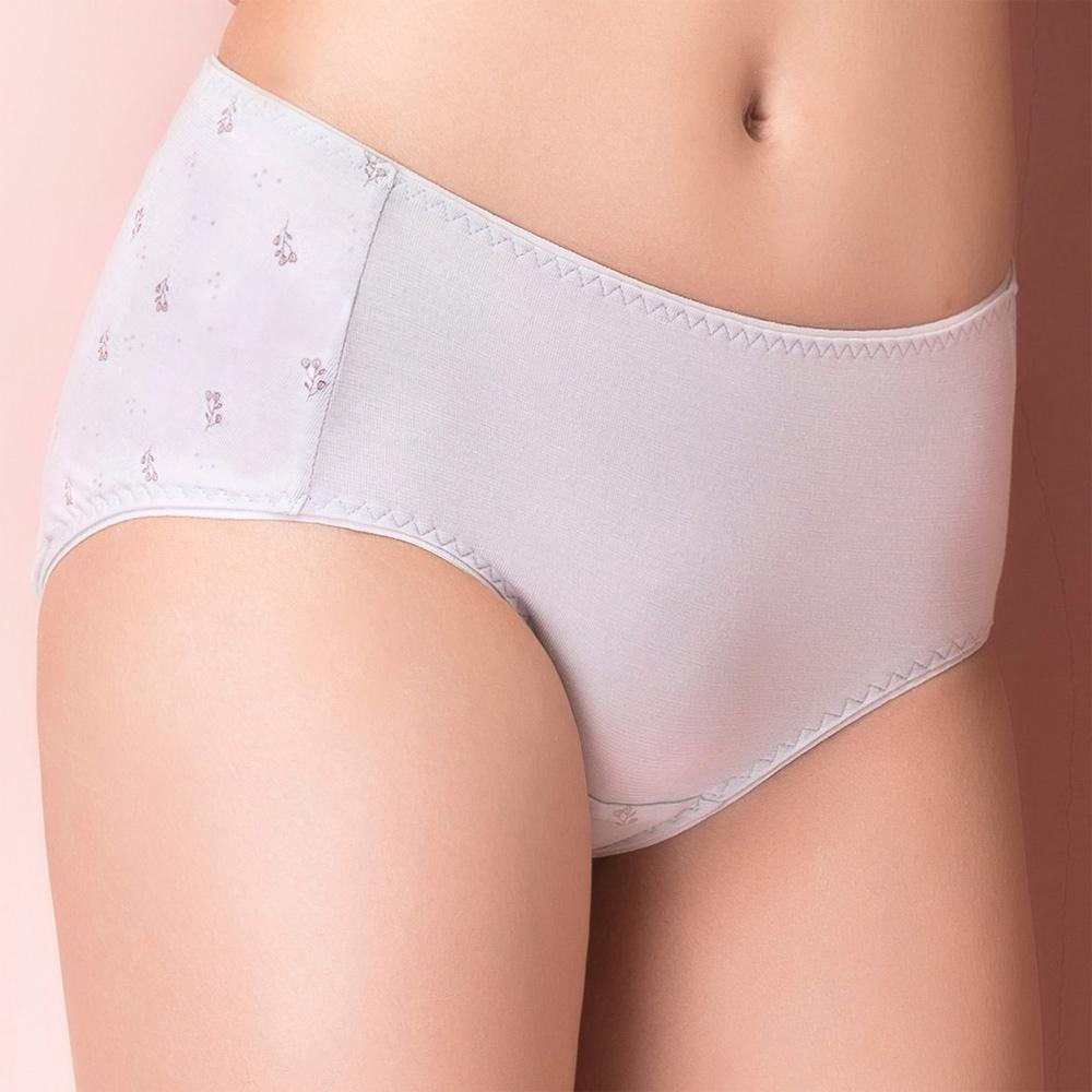 嬪婷-環保纖植萃 M-LL 中低腰生理褲(自然灰)-透氣包臀
