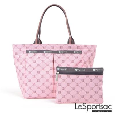 LeSportsac - Standard手提水餃包-附化妝包(經典格紋/粉)