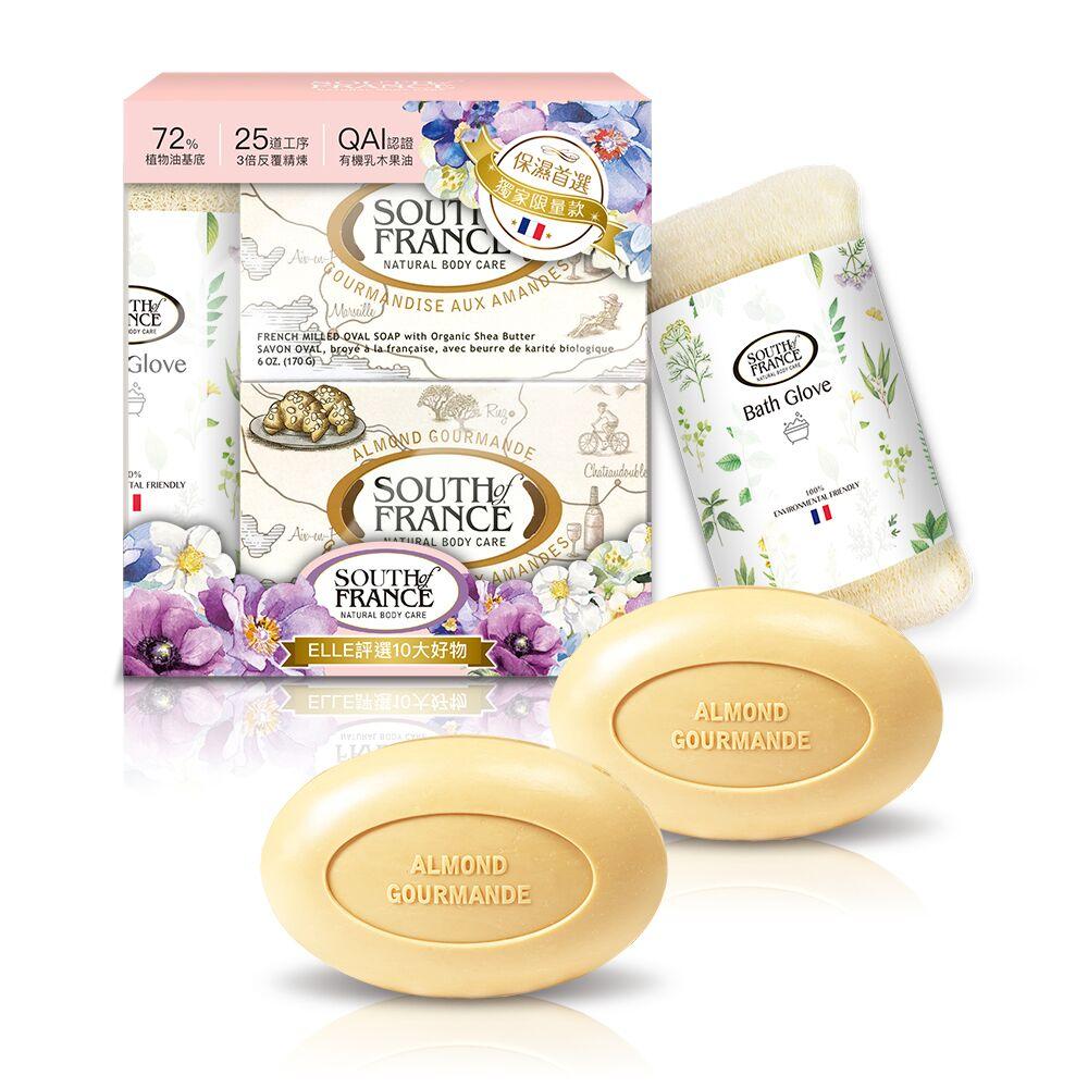 SOF 南法馬賽皂 花團錦簇迎新禮盒170gx2+贈沐浴手套 product image 1