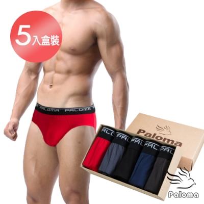 男內褲 Paloma彈性舒適三角褲-5入盒裝