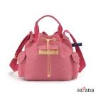 satana - Mini抽繩水桶包 - 歡喜玫瑰