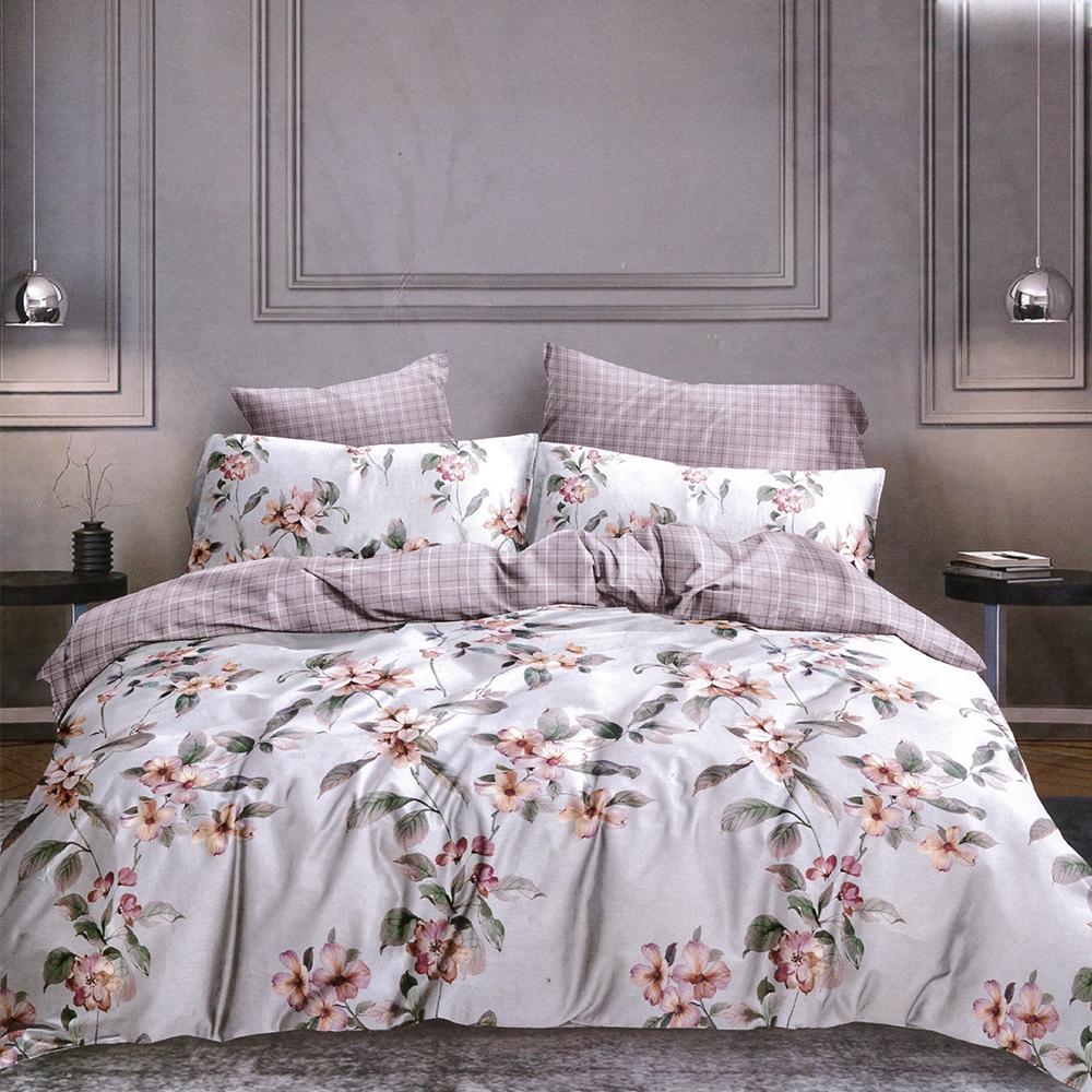Goelia 夏日花語 親膚舒柔活性印染超細纖單人床包枕套兩件組