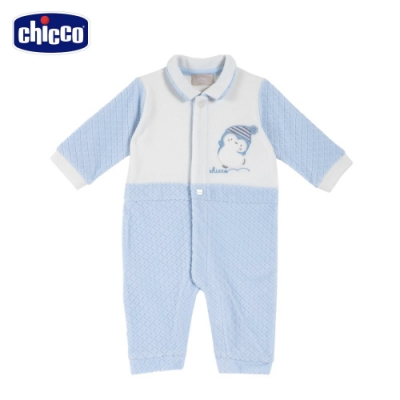 chicco-快樂企鵝-精選菱形剪毛絨前開兔裝(去腳套)