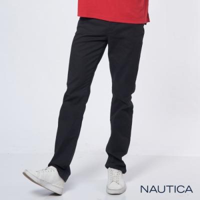 Nautica經典彈性直筒褲-黑色