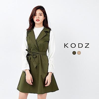 東京著衣-KODZ 經典歐美街頭綁帶背心洋裝-S.M.L(共二色)