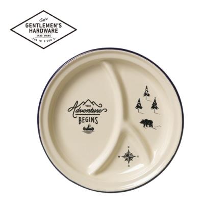【Gentlemen s Hardware】戶外用琺瑯分隔餐盤-經典米白