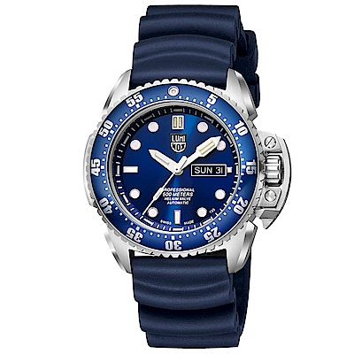 LUMINOX 雷明時 500米專業潛水機械錶-藍x白時標/44mm
