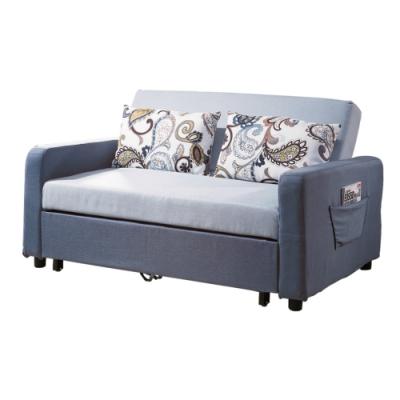 文創集 維拉 機能棉滌布沙發/沙發床(沙發/沙發床二用+拉合式機能設計)-150x92x86cm免組