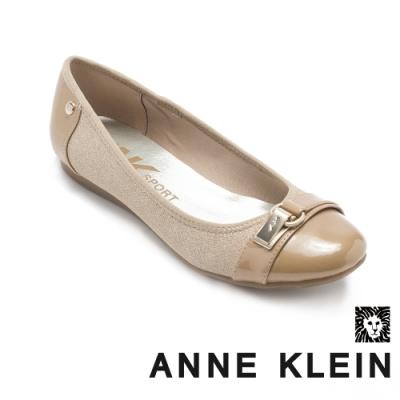 ANNE KLEIN-ABLE7 簡約百搭娃娃平底鞋-特殊紋棕色