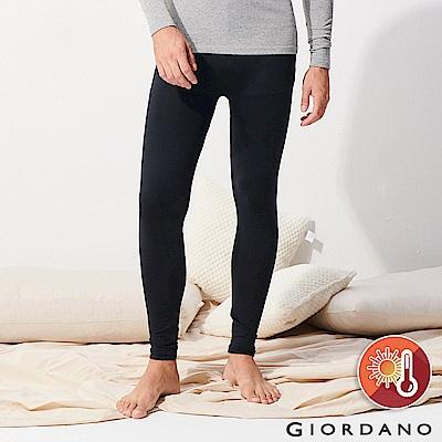 GIORDANO 男裝Beau-warmer plus+彈力舒適極暖褲-08 黑色