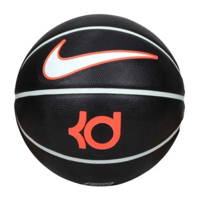 NIKE KD PLAYGROUND 8P 7號籃球-訓練 室外 戶外 N000224703007 黑亮橘淺綠