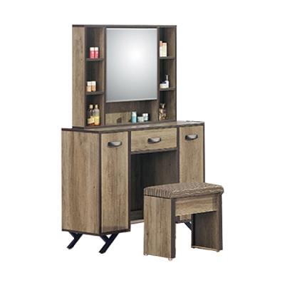 【AS】亞度尼3.2尺鏡台含椅-97x50x156cm