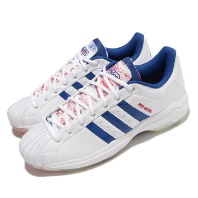 adidas 籃球鞋 Pro Model 2G 運動 男鞋 愛迪達 避震 包覆 支撐 球鞋 白 藍 FZ1393