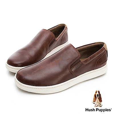 Hush Puppies Bounce 超彈力便鞋-棕褐