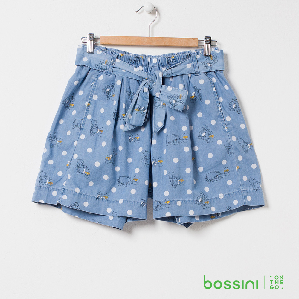 bossini女裝-小熊維尼印花牛仔褲裙01淺藍