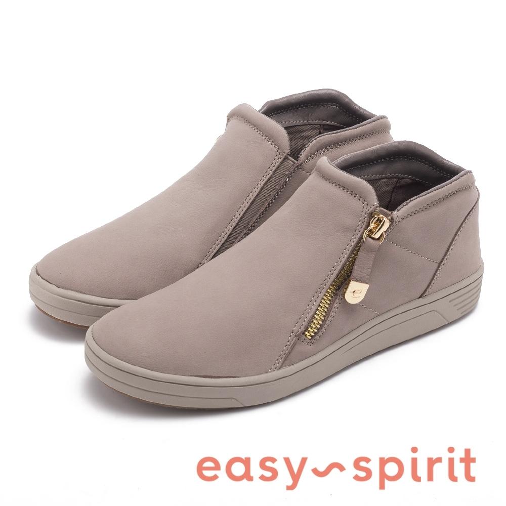 Easy Spirit-seNOVIA 簡約率性拉鍊舒適短靴-灰色