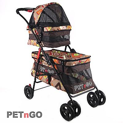 PETnGO 第二代雙層子母寵物推車-彩色鑽石