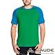 【VAUDE德國】男款吸濕排汗透氣輕量快乾短袖T恤VA-40957綠/藍 product thumbnail 1