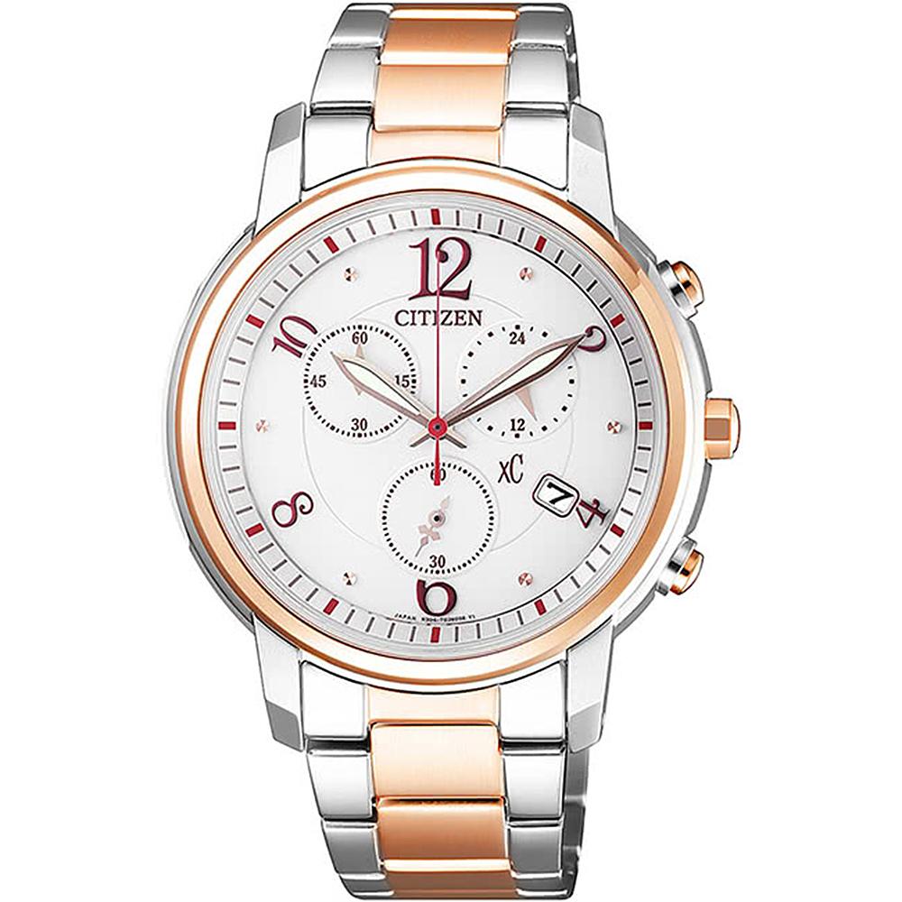 CITIZEN 星辰xC時尚光動能羅馬限定腕錶-雙色FB1435-57A