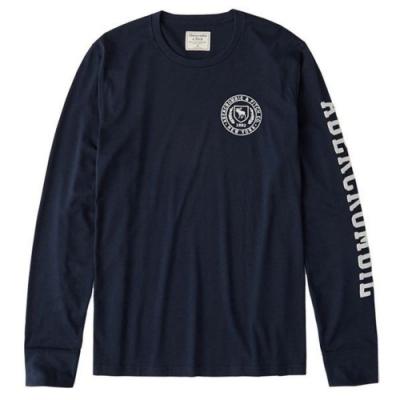 AF a&f Abercrombie & Fitch 長袖 T恤 藍色  1418