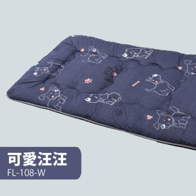 【FL生活+】日式加厚8cm單人床墊(90*200cm)-可愛汪汪(FL-108-W)