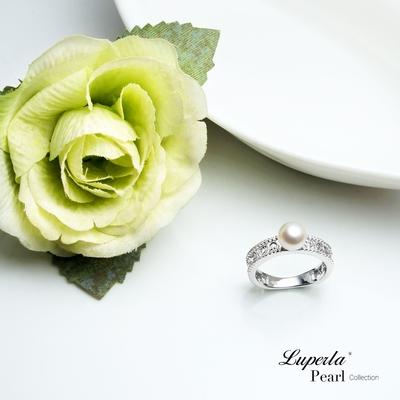 大東山珠寶 Akoya 日本海水珍珠 永恆珍心 純銀晶鑽 珍珠戒指