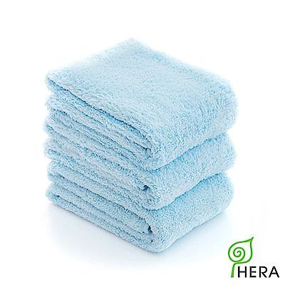 HERA 3M專利瞬吸快乾抗菌超柔纖毛巾3入組-晴空藍