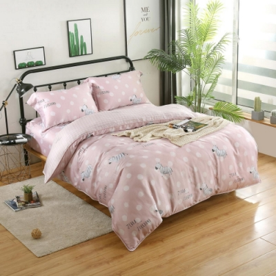 夢工場勾畫青春40支紗萊賽爾天絲四件式兩用被床包組-加大