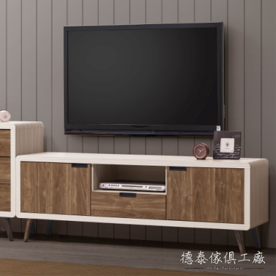 D&T 德泰傢俱 Miduo北歐胡桃木5尺電視櫃 -152x39.5x54.5cm