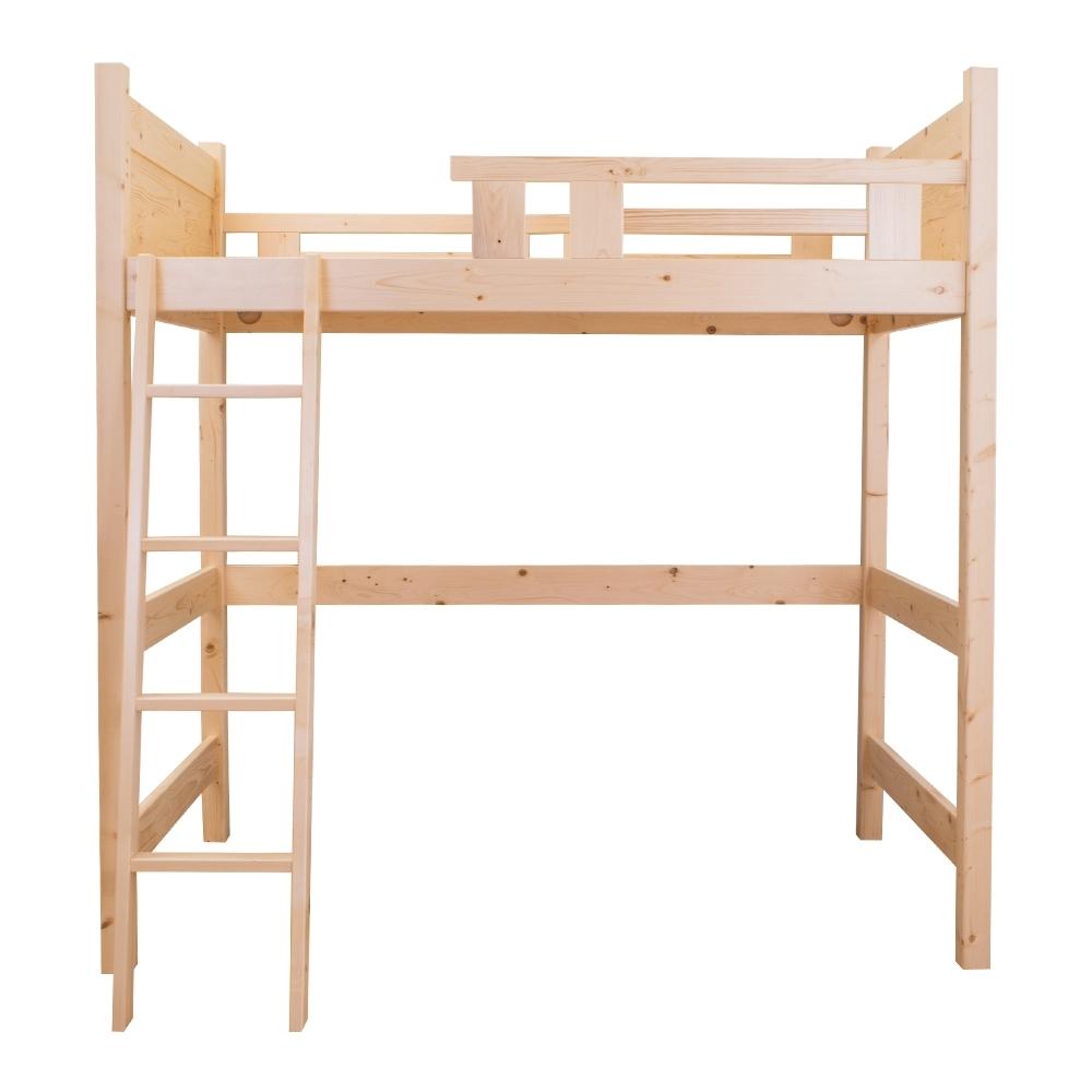 Boden-松木實木高架床/高層床架-單人加高款
