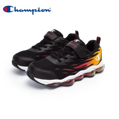 【Champion】FLAME 氣墊運動鞋 大童鞋-黑/橘紅(KFUS-0377-14)