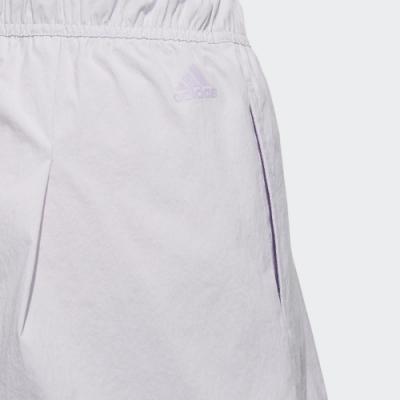 adidas 短褲 Style Shorts 運動休閒 女款 愛迪達 張鈞甯 路跑 健身 重訓 寬鬆 紫 黑 FT2909