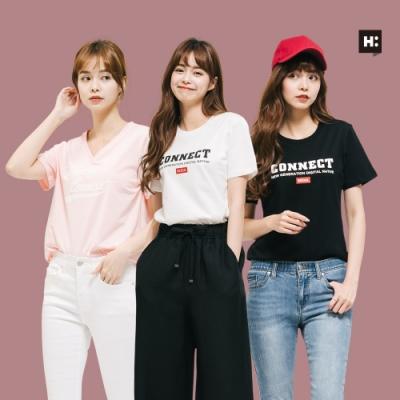[時時樂]H:CONNECT 韓國品牌 女裝-精選韓系夏日休閒上衣-四款