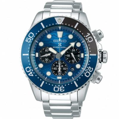 SEIKO精工PROSPEX愛海洋白鯊太陽能潛水錶(SSC741P1)