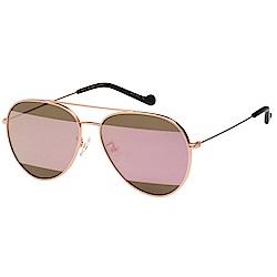 VEDI VERO 水銀面 純鈦 太陽眼鏡 (玫瑰金+雙色鏡片)VJ177