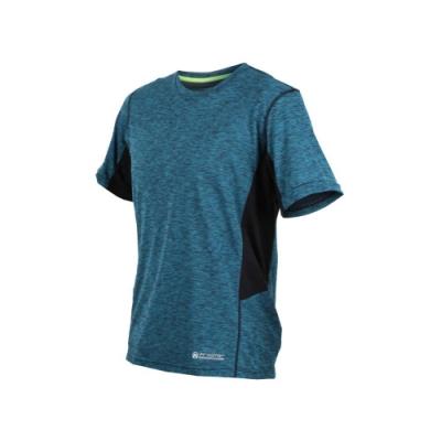 FIRESTAR 男吸濕排汗圓領短袖T恤-短T 慢跑 路跑 深藍灰