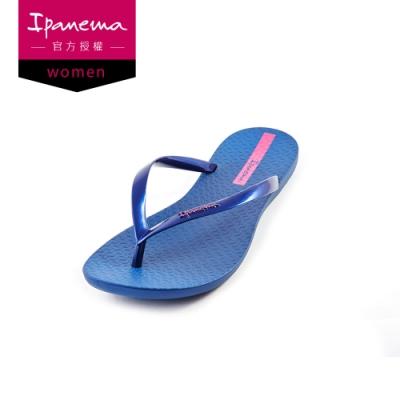 IPANEMA Wave 簡約人字夾腳拖鞋 女 藍