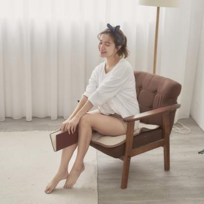 BUHO 3D立體日式天然藤蓆一人坐墊55x55cm(1入)